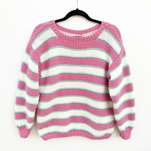 Vintage Striped Chunky Knit Sweater